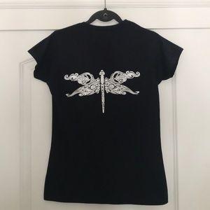 NWOT Black Santa Cruz Dragonfly Tee Shirt